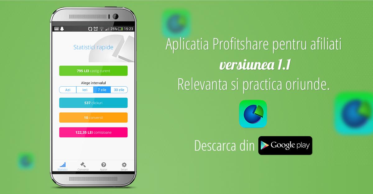 Profitshare fb aplicatie
